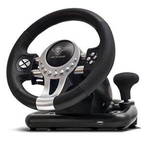 Volant Spirit of Gamer Race Wheel Pro 2 – Ensemble de simulation avec levier de vitesse (compatible PC / PlayStation 3 / PlayStation 4 / Xbox One)