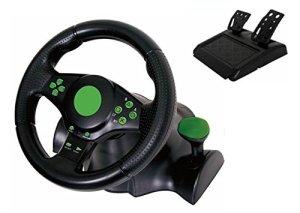 Kabalo Gaming Vibration Racing Steering Wheel (23cm) and Pedals for XBOX 360 PS3 PC USB [Gaming Vibration Volant de course (23cm) et les pédales pour XBOX 360 PS3 PC USB]