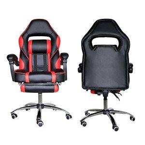 Gshopper inclinable Racing Gaming réglable Chaise de bureau à dossier haut avec repose-pieds