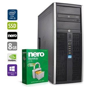 PC Gamer Multimédia Unité Centrale – HP Elite 8200 – Nvidia Geforce GTX1050 – Core i5-2400 @3,1GHz – 8Go DDR3RAM – 240Go SSD – 1To HDD – Lecteur DVD – Win 10 Pro 64 Bits (Reconditionné Certifié)