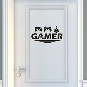 SOMESUN Gamer Home Decor Wall Sticker Decal Chambre Vinyle Art Mural Gamer Anglais Mur De La Rumeur Autocollant
