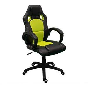 RegalosMiguel Gamer Pro Chaise de gamingChaise de gaming de haute qualité.Chaise pour gamers. vert
