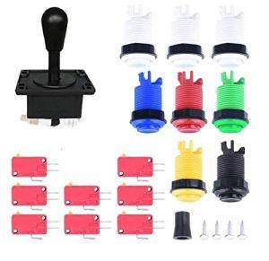 theoutlettablet® Joystick Arcade/8PCS microinterruptores 1P/2p Boutons de démarrage/Boutons 6PCS pour Jeu vidéo MAME Jamma