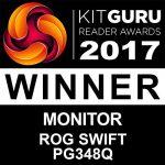 ASUS ROG PG348Q – Moniteur gaming eSport 34″ UWQHD – Dalle IPS incurvée 3800R – 100Hz – 3440 x 1440 – 300cd/m² – DP, HDMI et 4x USB 3.0 – Nvidia G-Sync – Garantie 3 ans