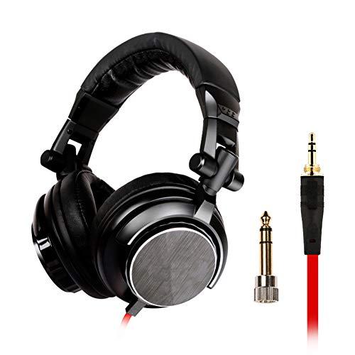 PXYUAN Casque de jeu micro avec microphone pivotant à réduction du bruit pour sourdine Compatible avec PC, ordinateur portable, Xbox One, PS4, Nintendo Switch, et appareils mobiles, noir