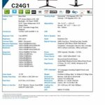AOC C24g161cm Class LED Gaming moniteur 1920x 1080, Freesync, 144Hz, 1MS, VA 1500R courbé Panel, HA, VGA, (2) HDMI, DP,