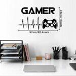 Lot de 2 stickers muraux en forme de jeu vidéo pour salon, chambre, cuisine et salle à manger