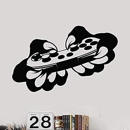 Manette de jeu vidéo autocollant salle de jeu jeu décalcomanie affiches Gamer Stickers muraux vinyle Parede décoration murale jeu vidéo St 40 * 64 cm