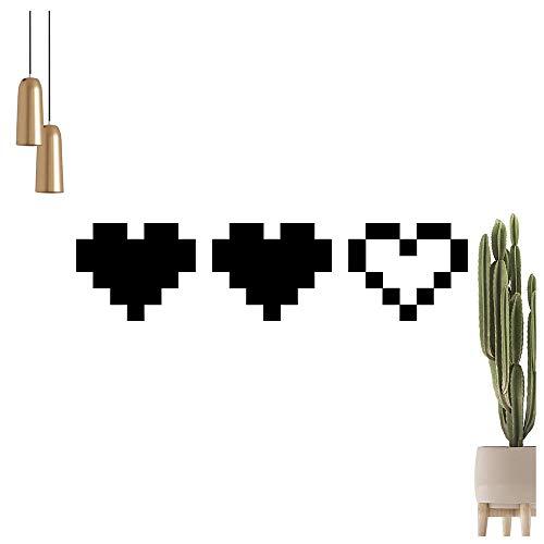 Kiwistar 3 Coeurs – Amour vie Gaming Retro Sticker mural en 6 tailles