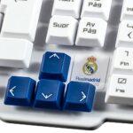 Mars Gaming MKRM USB QWERTY Espagnole Bleu, Blanc clavier – Claviers (Standard, Avec fil, USB, Clavier mécanique, QWERTY, Bleu, Blanc)