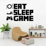 Mangez sommeil jeu autocollant répéter jouer salle de jeu décalcomanie jeux affiches Gamer vinyle stickers muraux Parede décor Mural jeu vidéo autocollant 49×85 cm