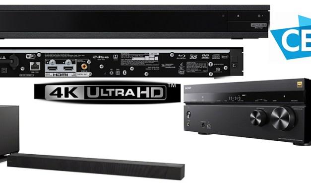 Sony schickt Ultra-HD Blu-ray Player, Dolby-Atmos Soundbar und smarten Receiver ins Rennen