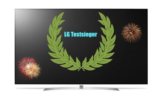 """Reichlich Sieges-Lorbeer von der """"Stiftung Warentest"""" für LG-TVs"""