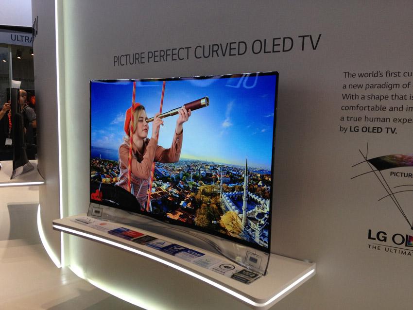 "LG 55"" curved OLED TV"