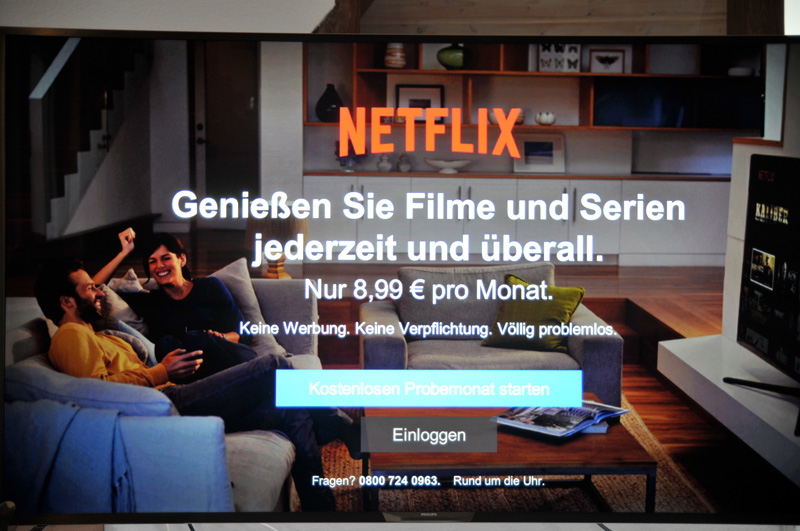 Philips 65PUS9809 Netflix