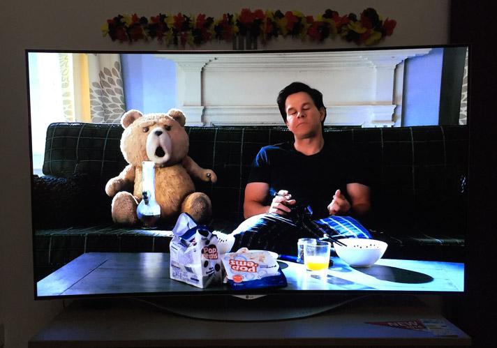 TED Film-Teaser am 55EC930V