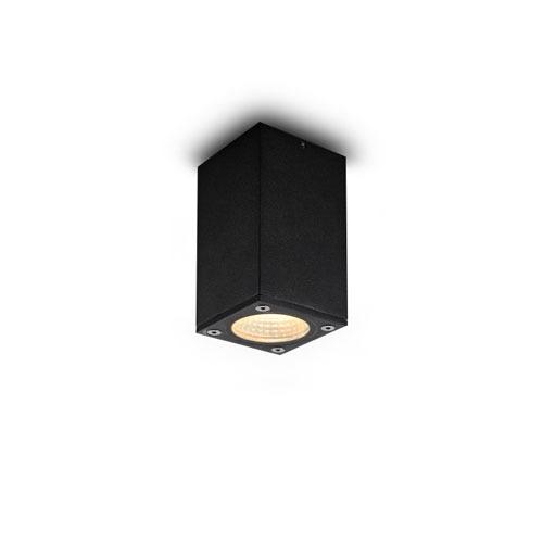 lbl186 5 watt square black surface mounted soffit led downlight