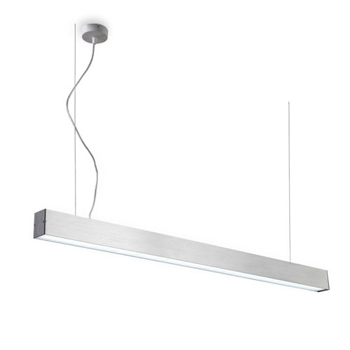 LPL159 20 watt silver LED pendant light - linear pendant lighting