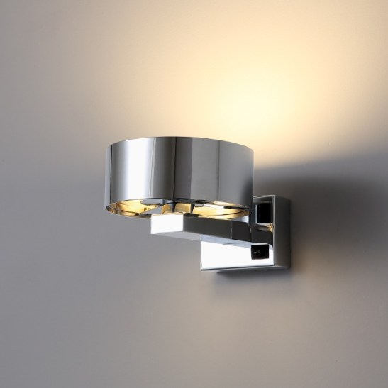 LWA298 Wall mounted chrome bedside wall light