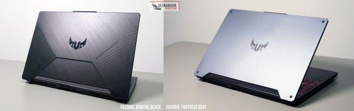 Asus TUF A15 versions - Bonfire Black vs Fortress Gray