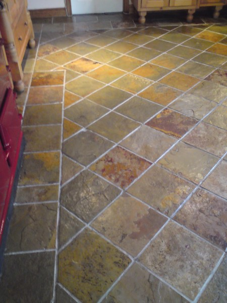 Stone  Tile   Grout Cleaning in Belfast  Holywood   Bangor from     Slate tile cleaning before Slate tile cleaning after