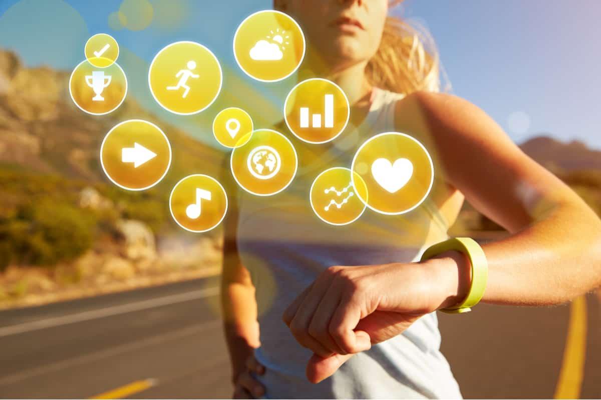 fitness tracker design graphic