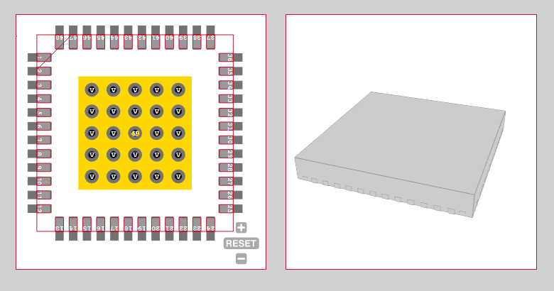 Footprint and 3D model for alternative electronic components
