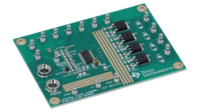 An LED driver evaluation board from Texas Instruments