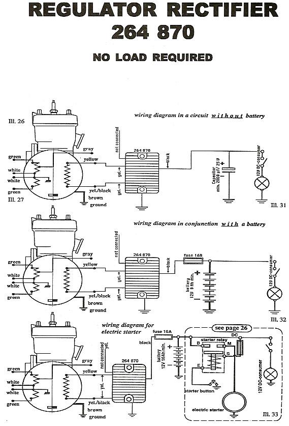 rotax rectifier wiring diagram for 264 780 regulator