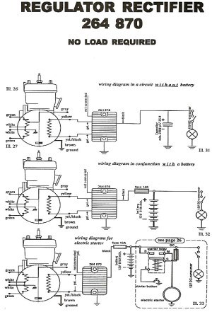 Rotax rectifier wiring diagram for 264 780 regulator