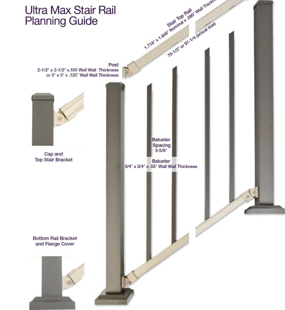Ultra Max Aluminum Railing   Installing Aluminum Stair Railing   Baluster   Deck Stair   Balcony Deck   Railing Systems   Pressure Treated