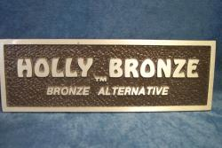 holly bronze metal sign