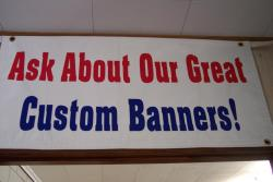 ask about our customer banners