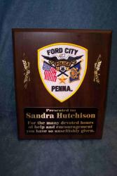 police recognition plaque
