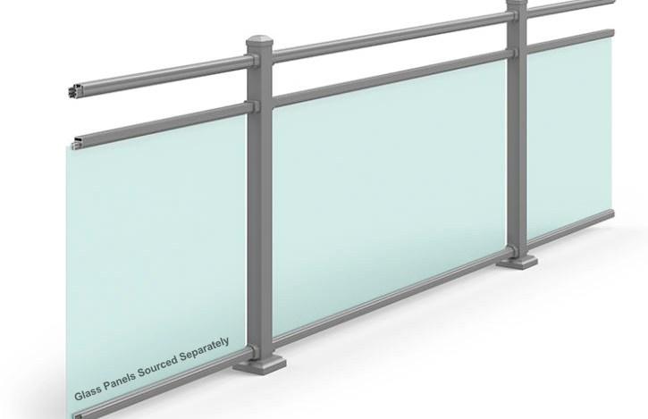 Residential Commercial Aluminum Railing Ultra Aluminum | Iron X Handrail Picket