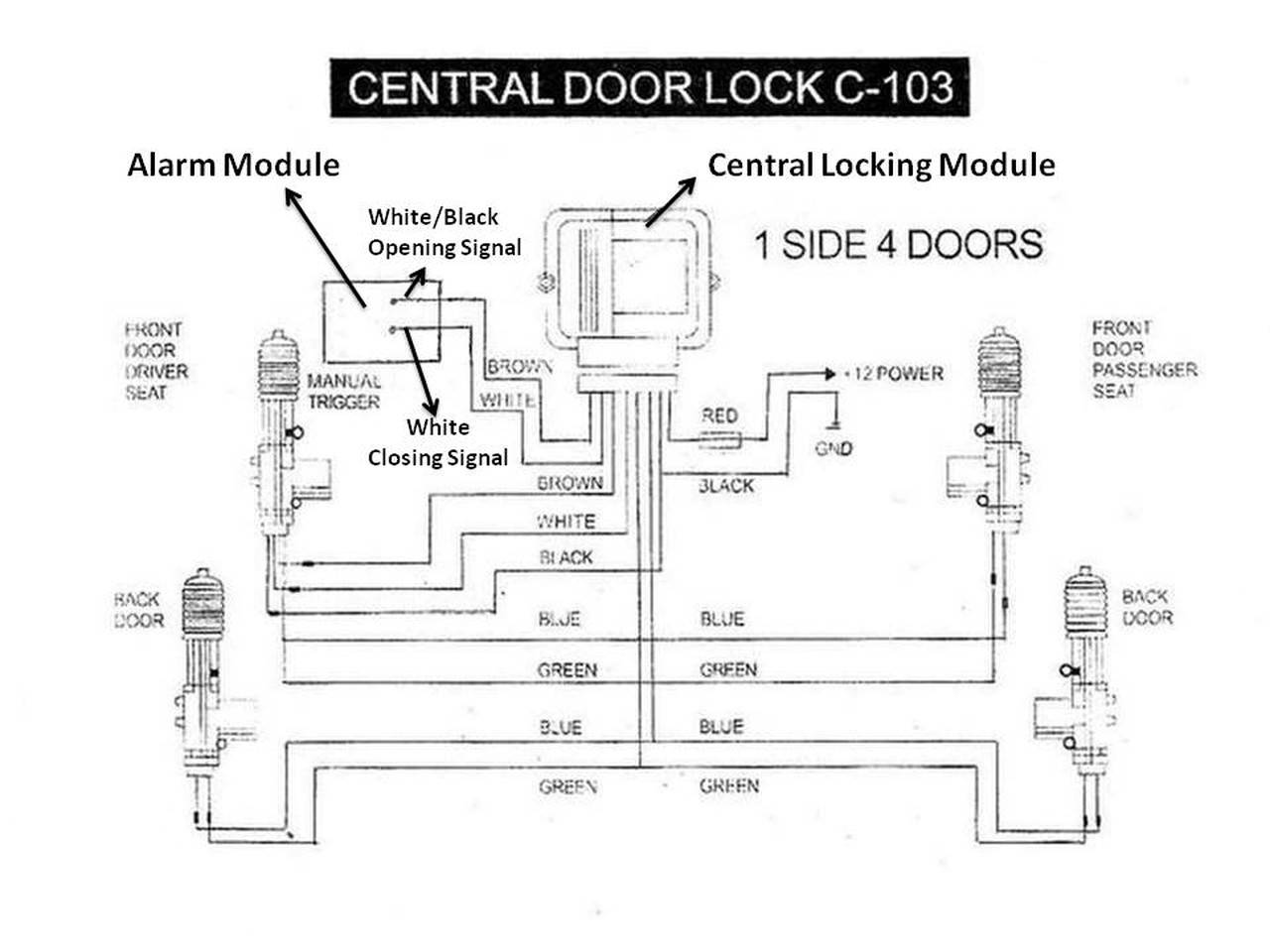 5 Wire Central Locking Wiring Diagram