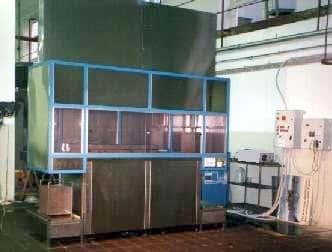 impianto con robot di lavaggio protezione asciugatura metalli