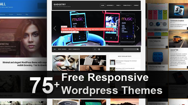 75+ Free Responsive WordPress Themes