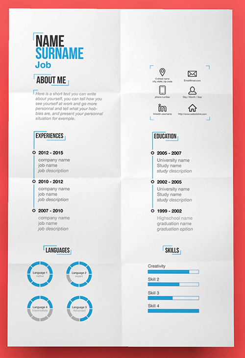 115  best free creative resume templates
