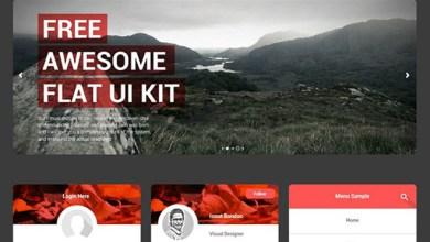 Photo of Freebie: Free Awesome Flat Ui Kit PSD