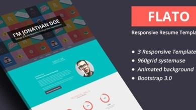 Photo of Freebie – Flato Responsive Online Flat CV & Html Resume Templates