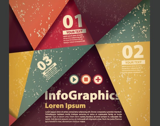 Numbered Infographics Vector 01