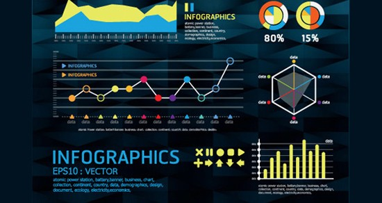 Another Set of Year Infographic and Diagram Vector Material