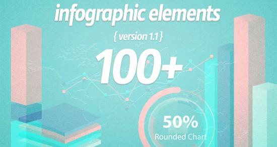 Hundred Infographic Elements (Vector)