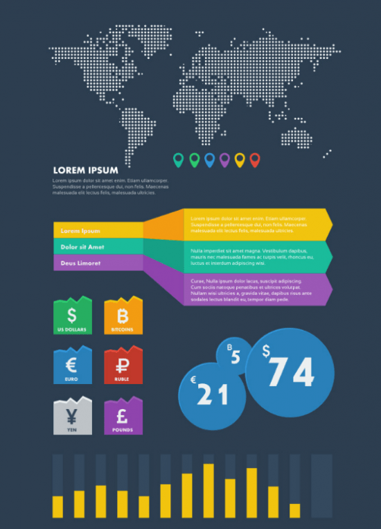 Financial Information Theme Infographics