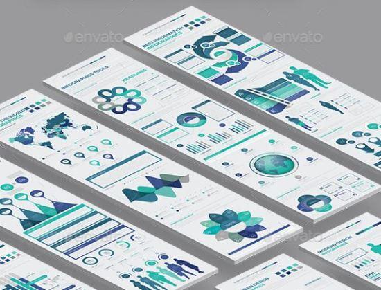 Infographics Template PSD, AI, EPS