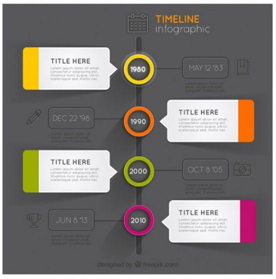 Modern Timeline Design Infographics