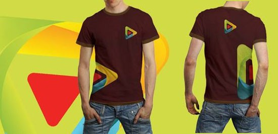 free t shirt psd template for male