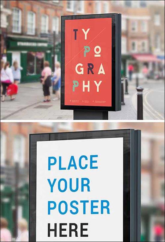 Street Billboard Free PSD Mockup
