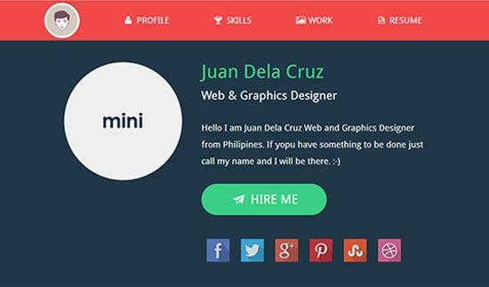 flat design websites